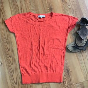LOFT coral top Size Small